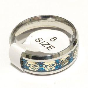 Skulls Ring, Size 8